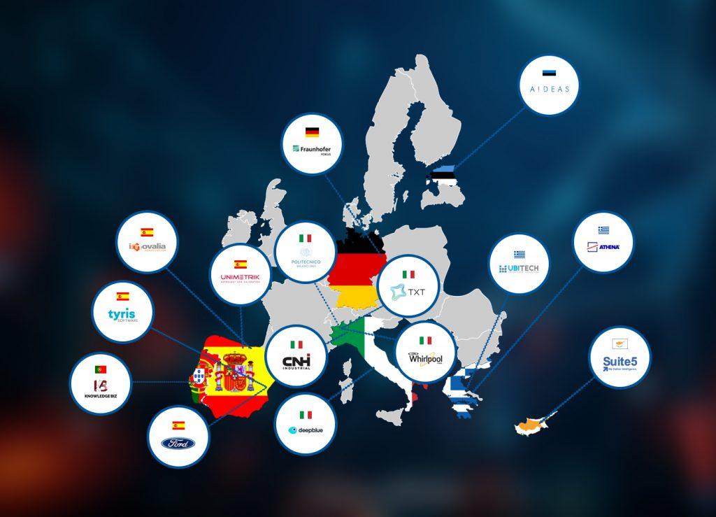 XMANAI Consortium map